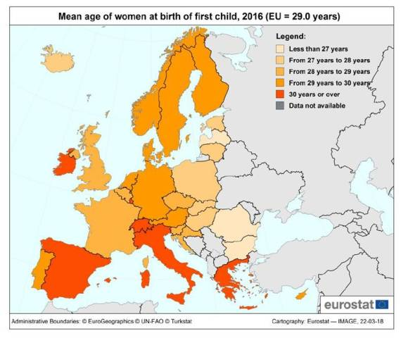 geboortecijfers nederland en eu