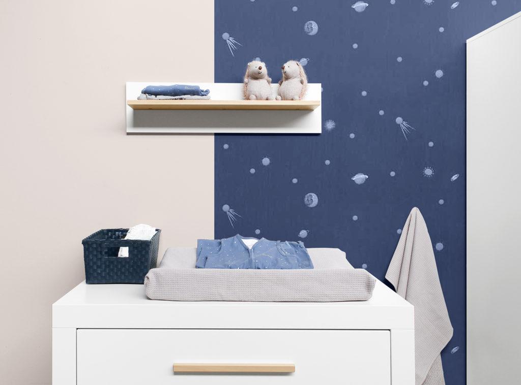 Kleuren babykamer blauw