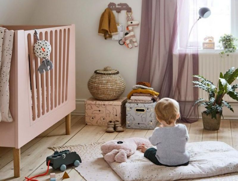 kleuren babykamer roze