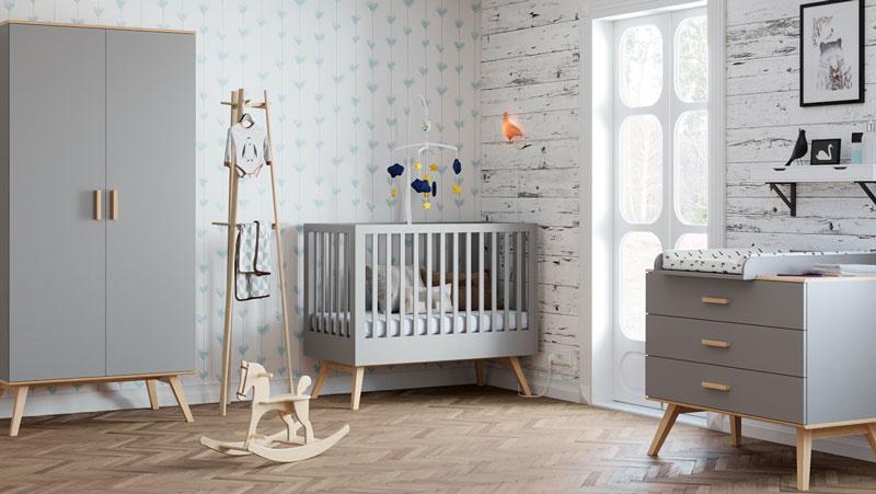 kleuren babykamer grijs