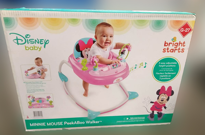 recall loopstoeltje Minnie Mouse PeekaBoo Walker, Bright Starts