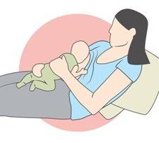 Borstvoeding houding liggend Australisch