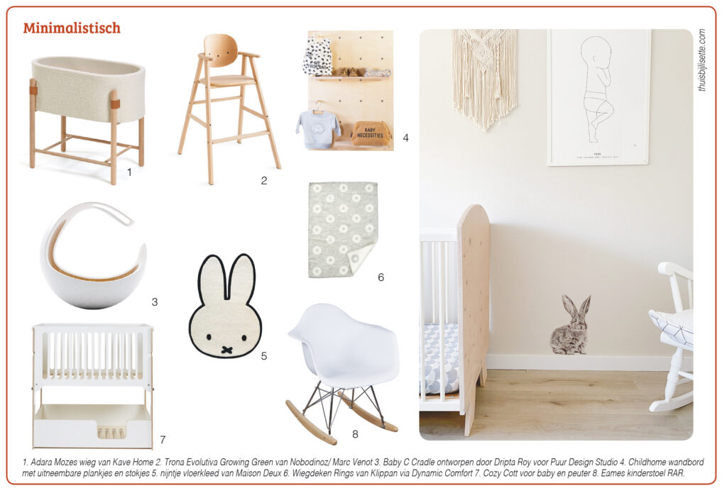 babykamer trend minimalistisch